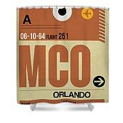 Mco Orlando Luggage Tag I Shower Curtain