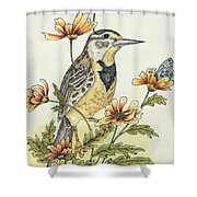 Meadow Song Shower Curtain