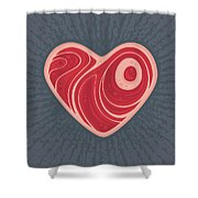 Meat Heart Shower Curtain