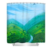 Medellin Natural Shower Curtain by Gabrielle Wilson-Sealy
