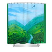 Medellin Natural Shower Curtain