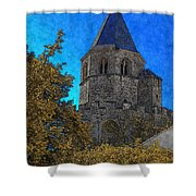 Medieval Bell Tower 3 Shower Curtain