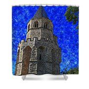 Medieval Bell Tower 4 Shower Curtain