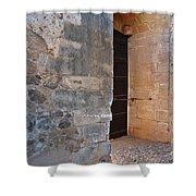 Medieval Castle Entrance In Algarve Shower Curtain