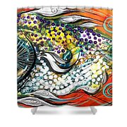 Mediterranean Fish Shower Curtain