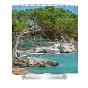 Mediterranean Landscape In Menorca Shower Curtain