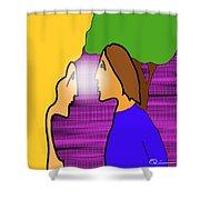 Meeting Shower Curtain