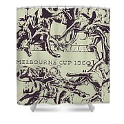 Melbourne Cup 1960 Shower Curtain