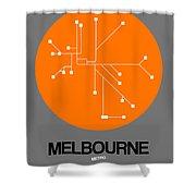 Melbourne Orange Subway Map Shower Curtain