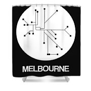 Melbourne White Subway Map Shower Curtain