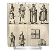 Members Of The Order Of Christ  Shower Curtain