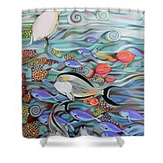 Memory Of The Coral Reef Shower Curtain