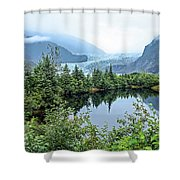 Mendenhall Glacier 1 Shower Curtain by Dawn Richards