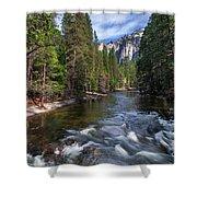Merced River, Yosemite National Park Shower Curtain