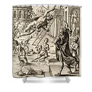 Mercury And Aeneas  State    Shower Curtain