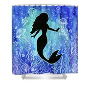 Mermaid Under Water Shower Curtain