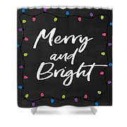 Merry And Bright 2- Art By Linda Woods Shower Curtain