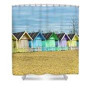 Mersea Island Beach Huts, Image 3 Shower Curtain