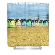 Mersea Island Beach Huts, Image 4 Shower Curtain