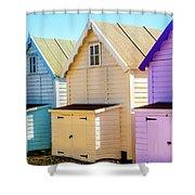 Mersea Island Beach Huts, Image 6 Shower Curtain