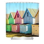 Mersea Island Beach Huts, Image 7 Shower Curtain