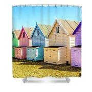 Mersea Island Beach Huts, Image 9 Shower Curtain