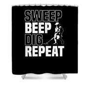 Metal Detector Beach Pun Apparel Shower Curtain