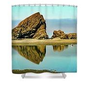 Meyers Beach Reflections - Oregon  Shower Curtain