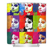 Michael Jackson Andy Warhol Style Shower Curtain
