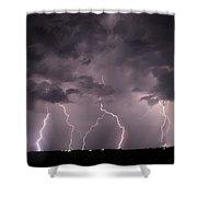 Mid July Nebraska Lightning 020 Shower Curtain by Dale Kaminski