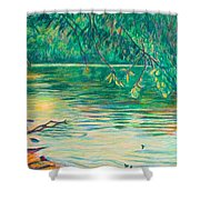 Mid-spring On The New River Shower Curtain
