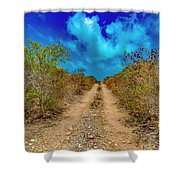 Middle Caicos Rocky Road Shower Curtain