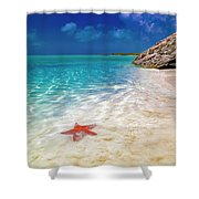 Middle Caicos Tranquility Awaits Shower Curtain