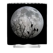 Midnight Moonshiners  Shower Curtain