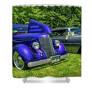 Mild Customs 1936 Ford And 1953 Chevy Shower Curtain