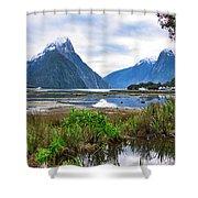 Milford Sound - New Zealand Shower Curtain