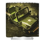 Military Green Shower Curtain