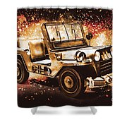 Military Machine Shower Curtain