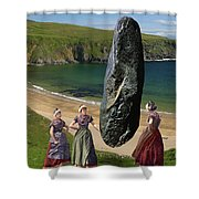 Milkmaids At The Monolith Shower Curtain