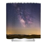 Milky Way In Val D'orcia Shower Curtain