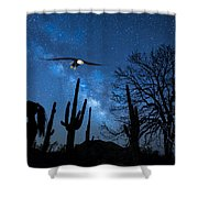 Milky Way Proposal Shower Curtain