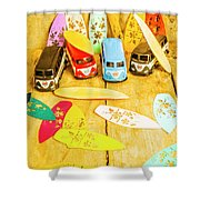Mini Van Adventure Shower Curtain