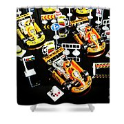 Miniature Motorsports Shower Curtain