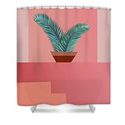 Minimal Tropic Shower Curtain