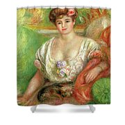 Misia Sert With A Lap Dog Shower Curtain