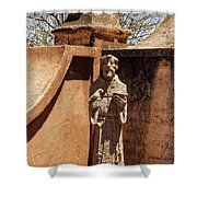 Mission San Xavier Del Bac - Scenes From The Yard - 2 Shower Curtain