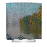 Mississippi Rivers Edge Shower Curtain