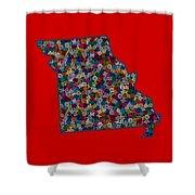 Missouri Map - 2 Shower Curtain
