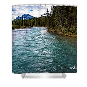 Mistaya River Blues Shower Curtain
