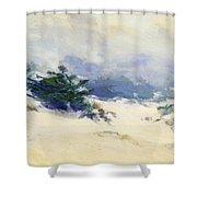 Misty Dunes Carmel Shower Curtain